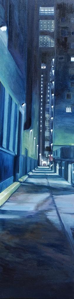 "Despair, Oil on canvas, 48""x12"""