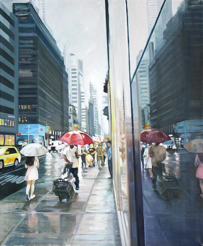"""a world apart, Oil on canvas, 24""""x18"""","""
