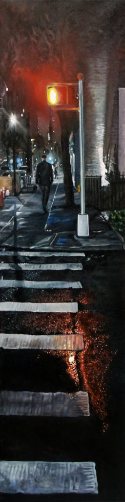 """He once was..., Oil on canvas, 48""""x12"""""""