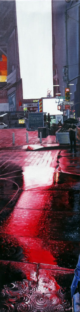 """World Without You, Oil on canvas, 48""""x12"""""""