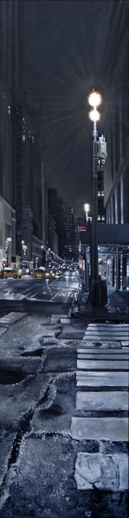 "MidTown, Oil on canvas, 48""x12"""